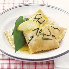 Bärlauch-Ravioli mit Zitronenbutter
