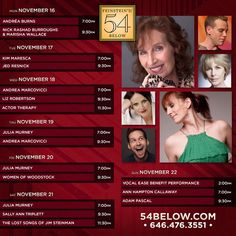 Week of November 16th, 2015 performance schedule. Click to buy tickets.