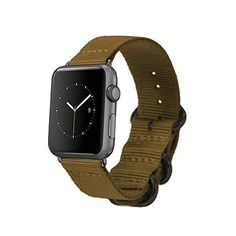 Apple Watch Band with Easy Slide in Elegant Adaptor for 38mm or 42mm Screen Apple Watch http://www.fuel-band.net/apple-watch-replacement-bands/