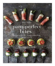 Delicious recipes for canapés, finger food and party snacks book.