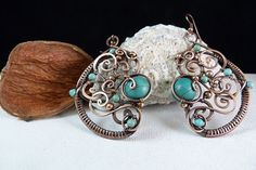 Tribal Love Handcrafted Copper Wire Wrapped by SkyAndBeyond