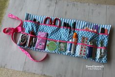 Great Christmas gift! Glove box roll up storage supply emergency first aid survival kit easy sewing diy zipper bag.