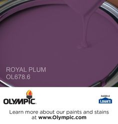 This color will look great in my newly remodeled bathroom. JAMAICAN DREAM is a part of the aquas collection by Olympic® Paint. Plum Paint, Glidden Paint Colors, Purple Paint Colors, Room Colors, Wall Colors, House Colors, Olympic Paint, Deck Stain Colors, Kitchen Paint Colors