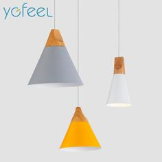 Home Dining Room Pendant Lamps Modern Colorful Restaurant Coffee Bedroom Pendant Lights Iron Real Wood Material AC110V/220V E27-in Pendant Lights from Lights & Lighting on Aliexpress.com   Alibaba Group