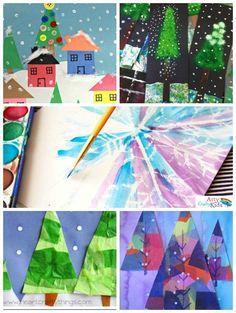 14 wonderful winter art projects for kids arty crafty kids Family Art Projects, Paper Art Projects, Christmas Art Projects, Winter Art Projects, Art Projects For Teens, Easy Art Projects, Christmas Christmas, Christmas Ideas, Christmas Crafts
