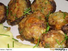 Mladé bedly zapečené s mletým masem a olomouckými tvarůžky Tandoori Chicken, Baked Potato, Stuffed Mushrooms, Pork, Beef, Fruit, Vegetables, Ethnic Recipes, Stuff Mushrooms