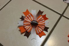 Football Team/ UT Colors BasicBow & Spike Layered by mLyCreations