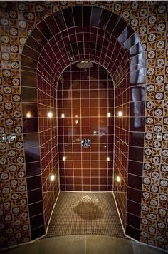 Shower in hotel spa.  St Pancras Renaissance Hotel in London.