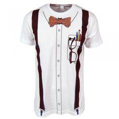 Mens Nerd T Shirt White
