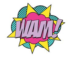 Super Girl Wam Sign  Jumbo by finedandyprintables on Etsy, $5.00 #printables #fineanddandypaperie