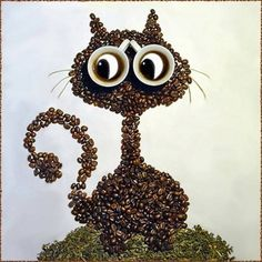 Photographies par Irina Nikitina : Adorables Animaux en Grains de Café