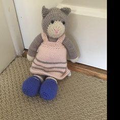 Sock Yarn Pinafores and Cardigans plus Little Bear Scarf Yarn Dolls, Knitted Dolls, Teddy Bear Knitting Pattern, Knitting Patterns, New Girl, Teddy Bear Toys, Alpaca, Marker, Knitted Animals