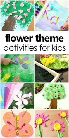 Flower Theme Activities for Kids-Perfect for spring fun! Preschool Lesson Plans, Preschool At Home, Preschool Themes, Spring Activities, Fun Activities For Kids, Learning Activities, Outdoor Activities, Physical Activities, Inspired Learning