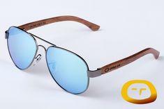 a483ea6897 Gafas de sol polarizadas en madera de bubinga 100% natural, frontal de  metal,