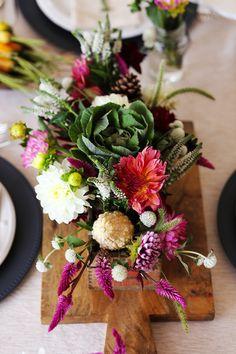DIY Fall Floral Centerpiece