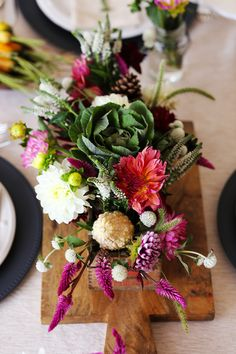 DIY Fall Floral Centerpiece - QuinnCooperStyle.com