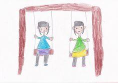 ■■■坂下南小学校/2年生/女の子■■■ 【作品タイトル】ブランコ遊び【伝えたい事】休日や学校でブランコ遊びが大好きです。思いっきりこいで、空に届きそうなくらい、高く上がるところが楽しいです。