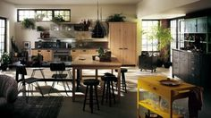 large open kitchen workspace