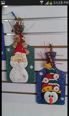 Christmas Crafts, Merry Christmas, Xmas, Biscuit, Santa Ornaments, Crafts For Kids, Wallpaper, Holiday Decor, Diy
