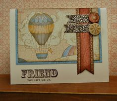 card by Lynn Darda using CTMH Balloon Ride paper