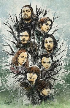 Game of Thrones - Unique Illustrations by The Doodle-Meister