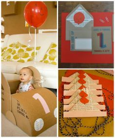 cardboard box party - because babies love boxes!