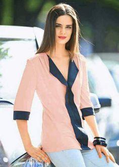 Patron gratuit : une blouse légère de la taille 38 à 48 « Blog de Petit Citron