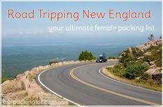 When you feel the need to hit the open road, few locations can compare with the New England states. Here is my edited list of items to consider taking with you so that you're prepared for anything.