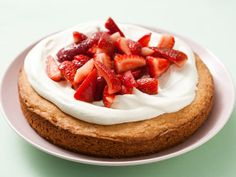 Strawberry Topped Golden Cake