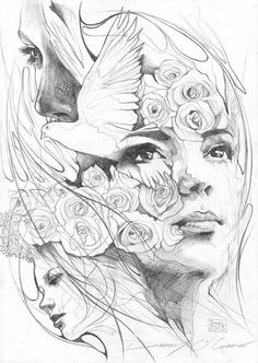 Прекрасные наброски от художника Danny O'Connor