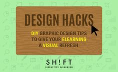 Design is not your strong suit? Here're some make-your-life-easier tips to create visual eLearning.