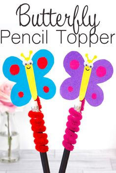 This cute butterfly pencil topper is a fun way to decorate your pencils and pens as the butterflies bounce about while your write. http://fancyshanty.com/butterfly-pencil-topper/?utm_campaign=coschedule&utm_source=pinterest&utm_medium=Fancy%20Shanty%C2%AE&utm_content=Butterfly%20Pencil%20Topper