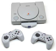 Sony PlayStation 1 Konsole+2x Wireless Controller/Funk Controller/Neu