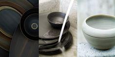 Sfeer foto Rina Menardi collectie aardewerk schalen in natuurtinten