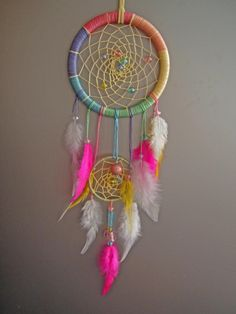 15%OFF Pastel Rainbow Dreamcatcher Wall Hanging,Dreamcatcher Home Deco,Dreamcatcher, Native American Indian Inspired,Christmas Gift by Sweetaffairsx on Etsy https://www.etsy.com/listing/169976034/15off-pastel-rainbow-dreamcatcher-wall