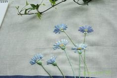 야생화 자수 : 네이버 이미지검색 Hand Embroidery Flowers, Floral Embroidery, Embroidery Patterns, Sewing Patterns, Vintage Underwear, Needlepoint, Needlework, Delicate, Photo And Video