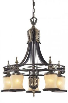 Hanover 6-Light Chandelier - Chandelier - Lighting - Home Decor | HomeDecorators.com