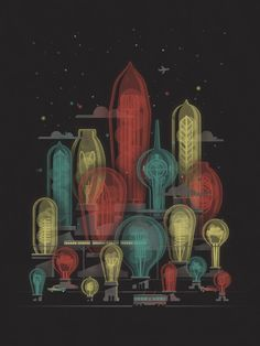"""Electric City"" Art Print by DKNG"