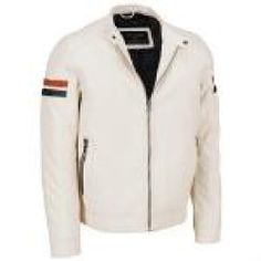 Daily Buy - Wilsons Leather Striped Faux-Leather Moto Jacket