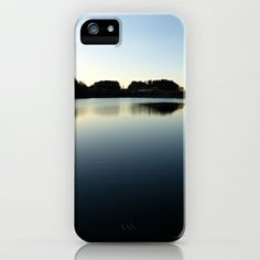 Indian summer sunset at the fishing lake V | waterscape photography iPhone  iPod Case by Patrick Jobst - $35.00. Custom design protective smartphone case available for iPhone (3g, 3gs, 4, 4s, 5, 5s, 5c), iPod Touch and Samsung Galaxy (S4, S5). #iphone3 #iphone4 #iphone5 #samsunggalaxy