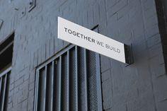 Together we build / WoodSmithe / by nina hans #design #graphic design #signage