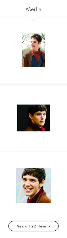 """Merlin"" by aleksi-tupper ❤ liked on Polyvore featuring merlin, people, brown, colin morgan, actors, words, costumes, medieval, medieval gown and eoin macken"