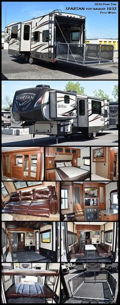 The 2016 Prime Time SPARTAN 1032 toy hauler fifth wheel offers a large cargo are. - The 2016 Prime Time SPARTAN 1032 toy hauler fifth wheel offers a large cargo area which provides mu - Fifth Wheel Toy Haulers, Fifth Wheel Campers, Rv Motorhomes, Motorhomes For Sale, Camper Life, Rv Life, Toy Hauler Travel Trailer, Travel Trailers, Grand Design Rv