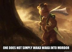 Amazing Lord of the Rings & Muppets mashup.