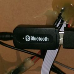 Bluetooth to any dock, stereo, speaker.