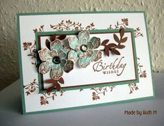 Cocoa and Sage Vintage Vogue Birthday Wishes by FubsyRuth - Cards and Paper Crafts at Splitcoaststampers Crafts To Do, Paper Crafts, Do It Yourself Inspiration, Birthday Wishes Cards, Crafty Craft, Crafting, Flower Cards, Creative Cards, Greeting Cards Handmade