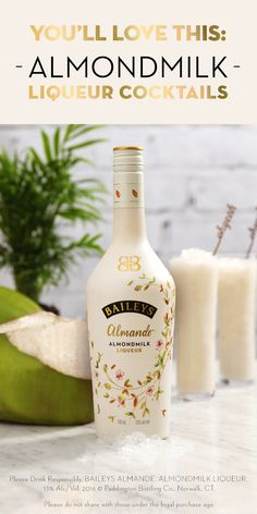 The new Baileys Almande™ is a deliciously light tasting alternative for mixing drinks this summer. Hosting a party or just relaxing at home? This almondmilk liqueur is dairy-free and gluten-free so you can enjoy it in any of these recipes. Pour Baileys Almande™ over ice, Vita Coco Coconut Water, or your favorite smoothie. The best part is, it's made with real almondmilk so you can enjoy it even more!