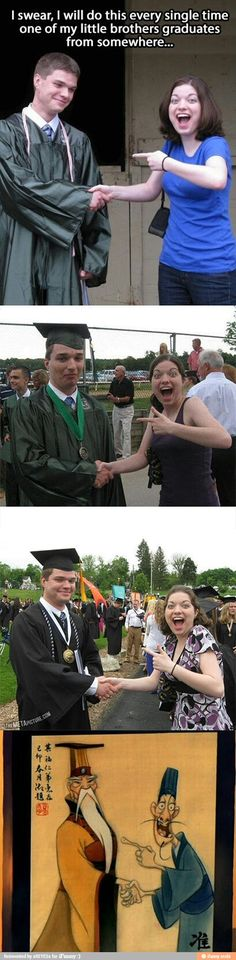 Perfect graduation photo.