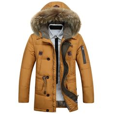 Men's Kuyomen Hooded Fur Down Jacket