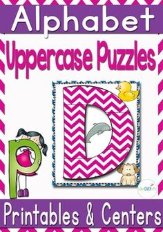 Students will have fun practicing their uppercase letters with these fun alphabet puzzles! It will also build their letter recognition between different fonts. Download the preview for a free letter sample.Two versions are provided for maximum versatility!
